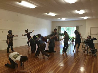 DanceAbility at the Garden Club.  All kinds of groups find the Garden Club house meets their needs.